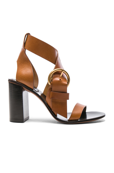 Chloe Leather Nils Sandals in Neutrals
