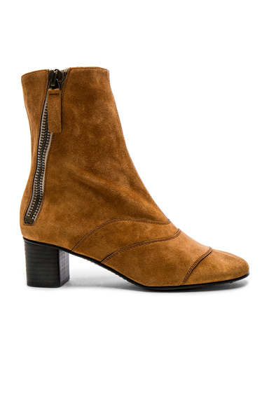 Chloe Suede Lexie Low Boots in Brown, Neutrals