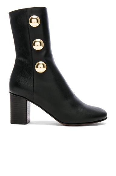Chloe Leather Orlando Boots in Black