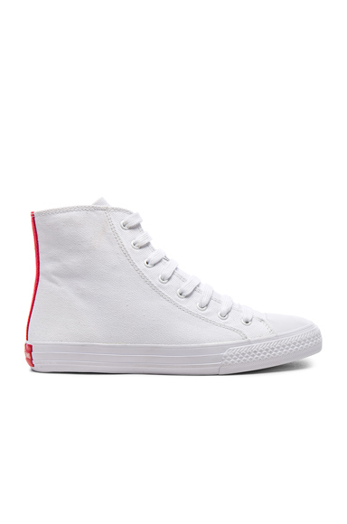 CALVIN KLEIN 205W39NYC Canvas High-Top Sneakers in White