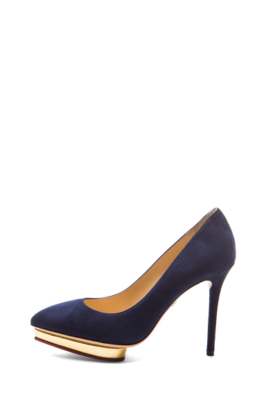 CHARLOTTE OLYMPIA   Debbie Suede Pumps in Midnight