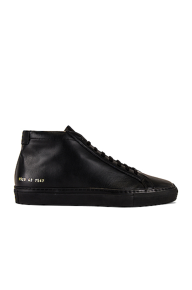 Common Projects Original Achilles Mid Tops in Black. - size Eur 41 / US 8 (also in Eur 42 / US 9,Eur 43 / US 10,Eur 44 / US 11,Eur 45 / US 12)