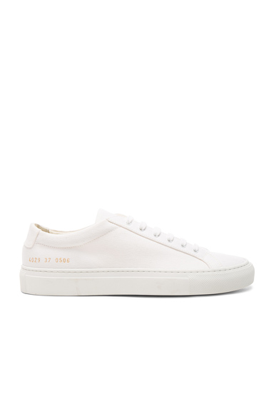 Common Projects Canvas Achilles Low in White