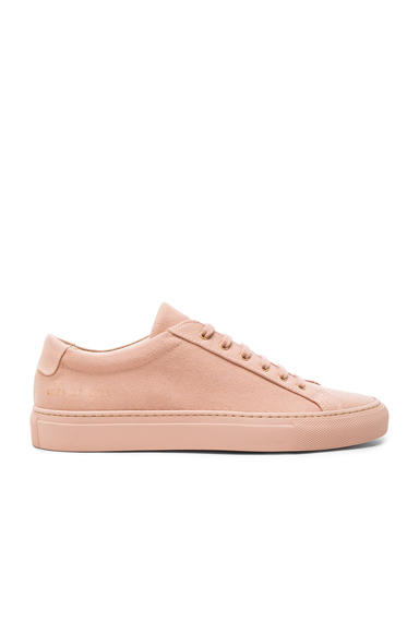 Common Projects Canvas Achilles Low in Pink