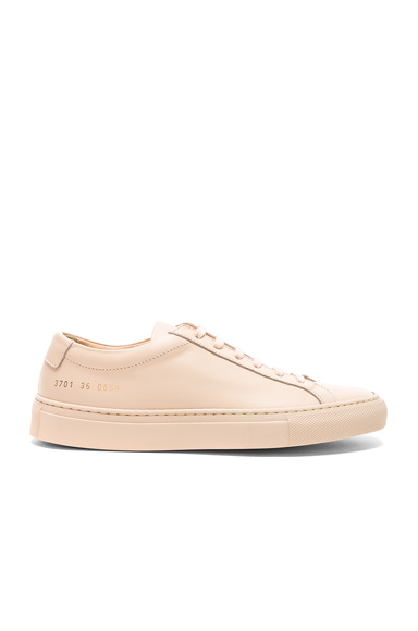 Common Projects Leather Original Achilles Low in Neutrals
