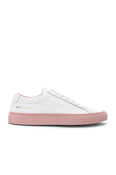 Common Projects Leather Achilles Low in White