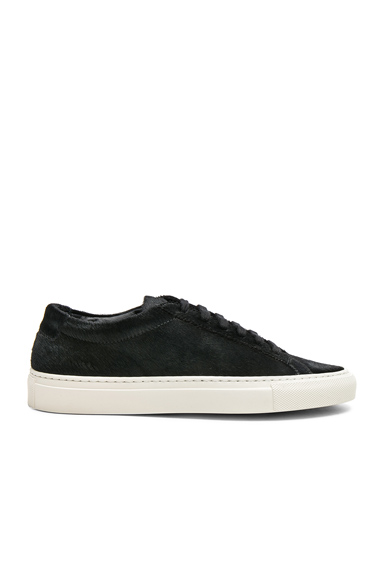 Common Projects Original Calf Hair Achilles Low in Black