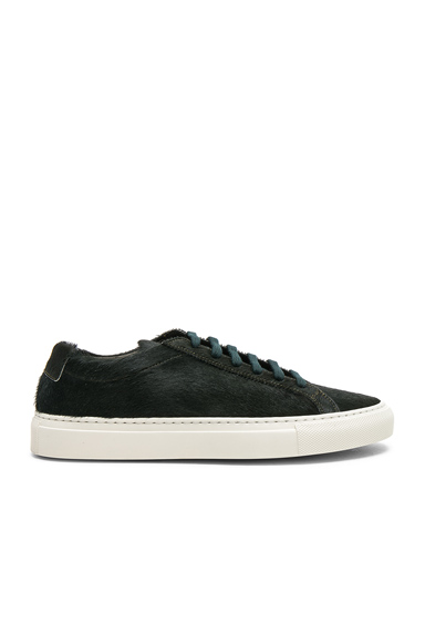Common Projects Original Calf Hair Achilles Low in Green