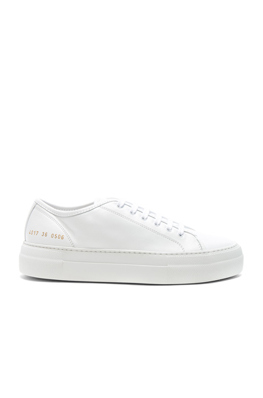 Common Projects Leather Tournament Low Super in White
