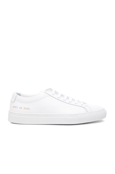 Common Projects Leather Original Achilles Low in White