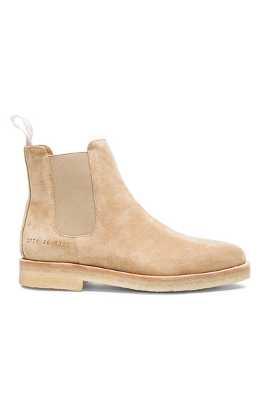 Common Projects Suede Chelsea Boots in Neutrals