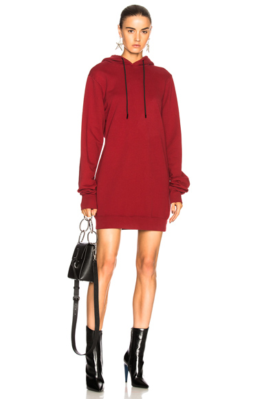 COTTON CITIZEN for FWRD Milan Backless Hoodie Dress in Red