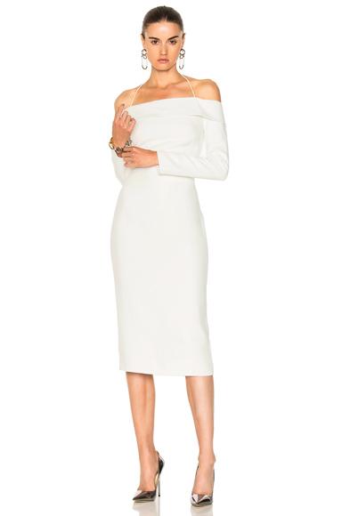 Cushnie et Ochs Off the Shoulder Pencil Dress in White