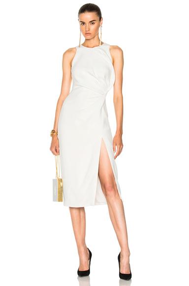 Cushnie et Ochs Sleeveless Dress with Crossover Detail in White
