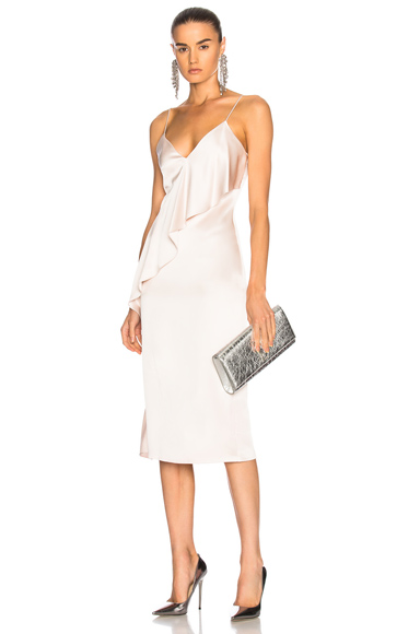 Cushnie et Ochs Sash Panel Detail Strappy Pencil Dress in Pink