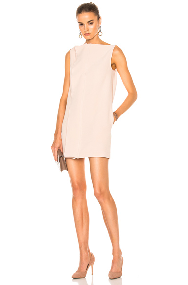 Dion Lee Axis Sleeveless Crepe Dress in Neutrals