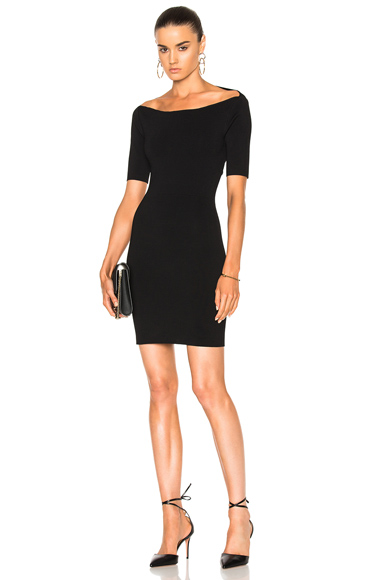 Dion Lee Suspended Rib Pencil Dress in Black