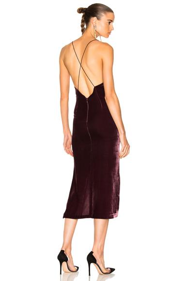 Dion Lee Velvet Fine Line Cami Dress in Purple