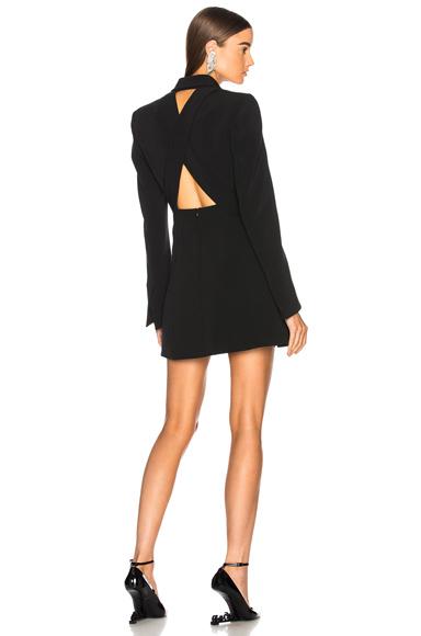 Dion Lee Lapel Harness Blazer Dress in Black