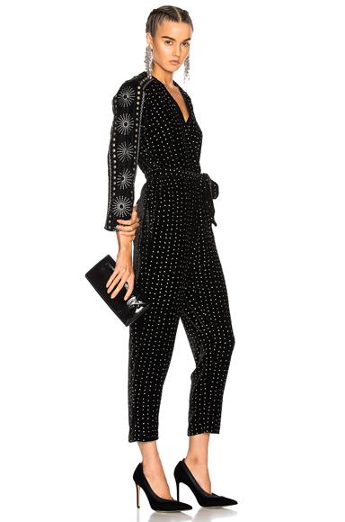Dodo Bar Or Joan Jumper in Black, Geometric Print, Metallics