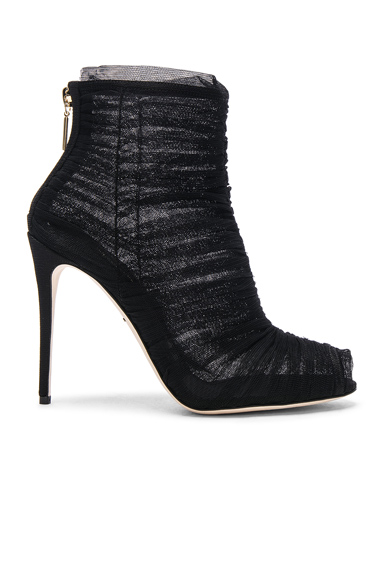 Dolce & Gabbana Mesh Booties in Black