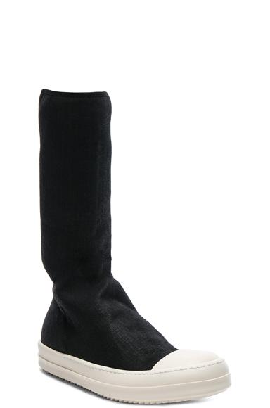 DRKSHDW by Rick Owens Scarpe Sock Sneakers in Black. - size 41 (also in 42,44,45)