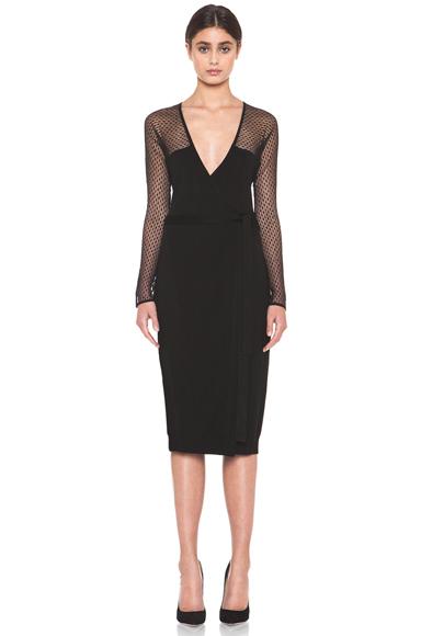 DIANE VON FURSTENBERG | Zalda Bis Lace Dress in Black