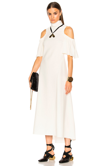 Ellery Deity Dress in White