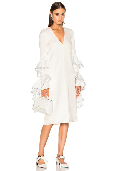 Ellery Molotov Dress in White
