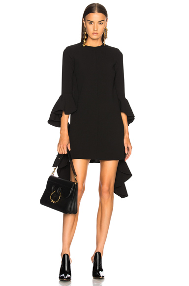 Ellery Kilkenny Frill Sleeve Mini Dress in Black