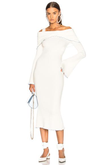 Ellery Dolly Off Shoulder Dress in White