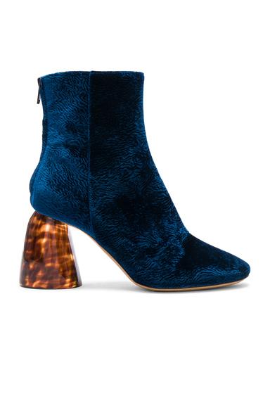 Ellery Velvet Class Boots in Blue