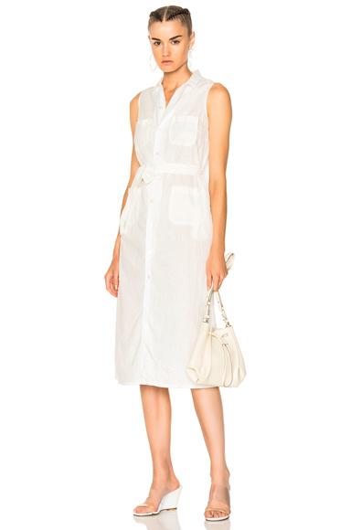 Engineered Garments Classic Shirt Dress in White