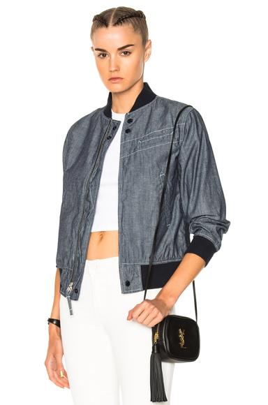 Engineered Garments Chambray Aviator Jacket in Blue