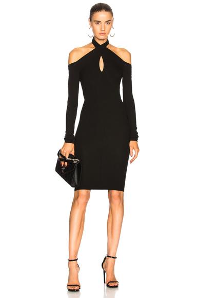 Enza Costa Twist Turtleneck Dress in Black