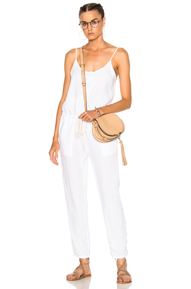 Enza Costa Strappy Jumpsuit in White