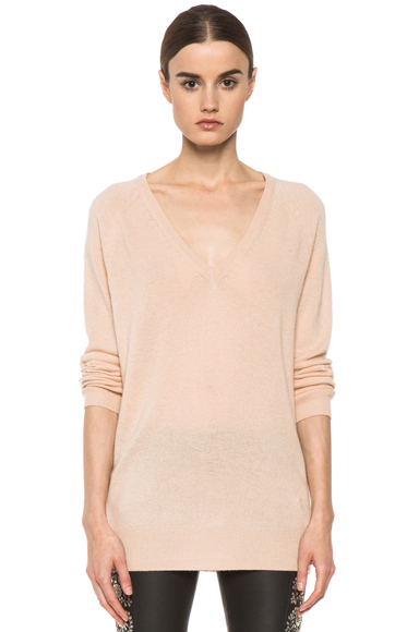 EQUIPMENT | Asher Cashmere V Neck in New Nude