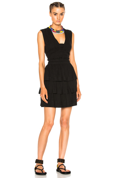Photo of Isabel Marant Etoile Kali City Flou Dress in Black online womens dresses sales