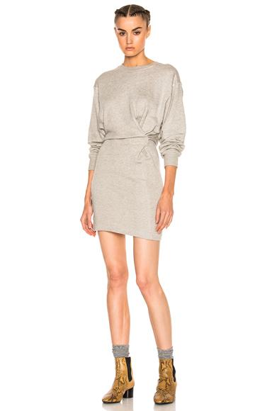 Isabel Marant Etoile Fanley Sweatshirt Dress in Gray