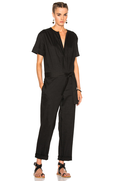 Photo of Isabel Marant Etoile Nadela New Flou Jumpsuit in Black online womens jumpsuits sales