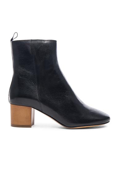 Isabel Marant Etoile Deyis Leather Baby Jane Boots in Black