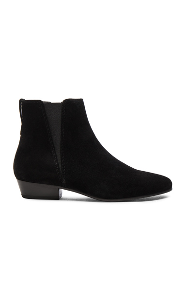 Isabel Marant Etoile Patsha Velvet Booties in Black
