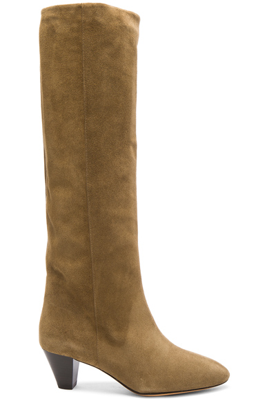 Isabel Marant Etoile Robby New Velvet Boots in Brown