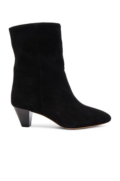 Isabel Marant Etoile Dyna New Velvet Booties in Black