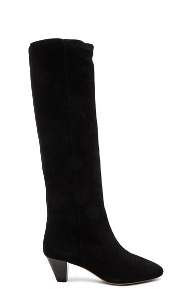 Isabel Marant Etoile Robby New Velvet Boots in Black