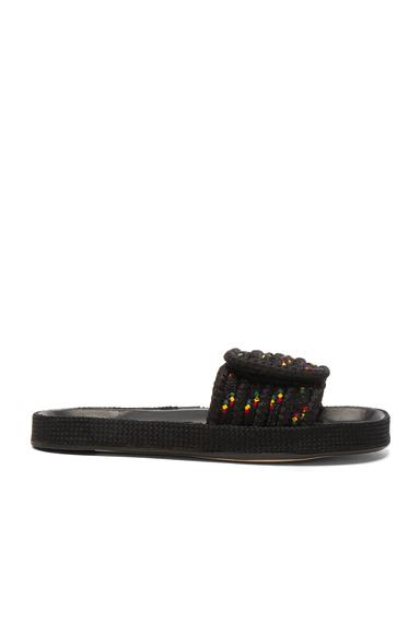 Isabel Marant Etoile Enki Rope Sandals in Black