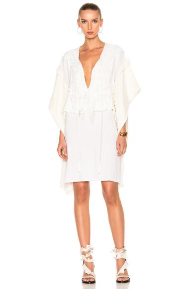 Faith Connexion Lace Dress in Neutrals, White