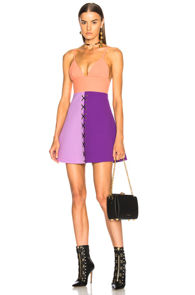Fausto Puglisi Color Block Dress in Purple