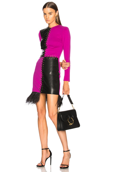 Fausto Puglisi Long Sleeve Mini Dress in Purple