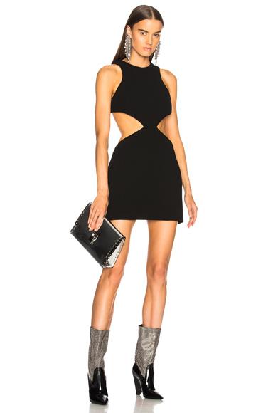 Fausto Puglisi Cut Out Mini Dress in Black